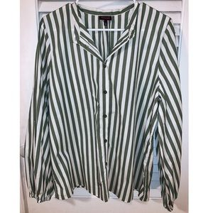 Who What Wear by Target Striped Button Down
